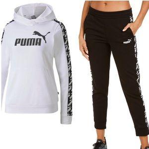 Puma 2 pc set women hoodie and pants